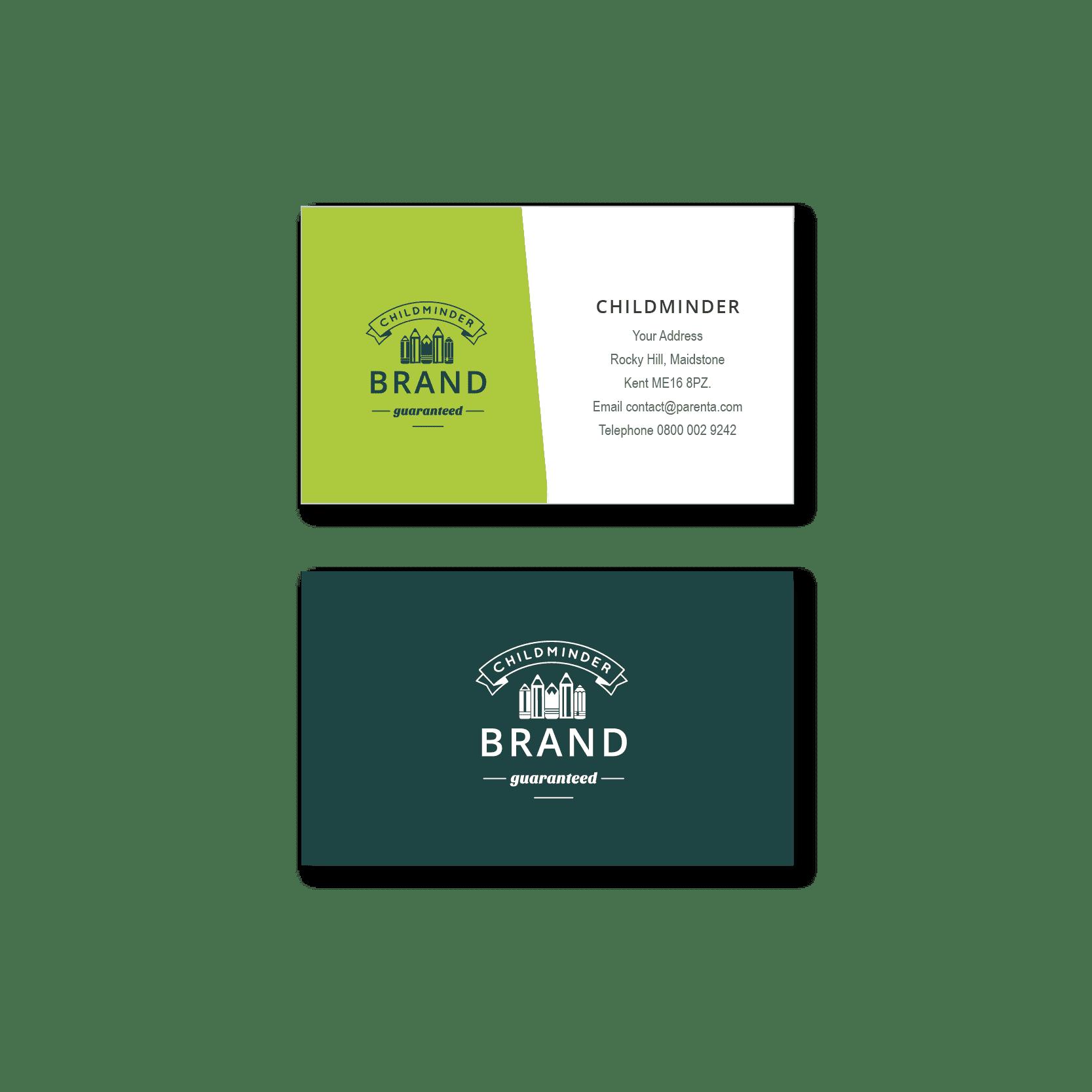 Childminder Business Cards