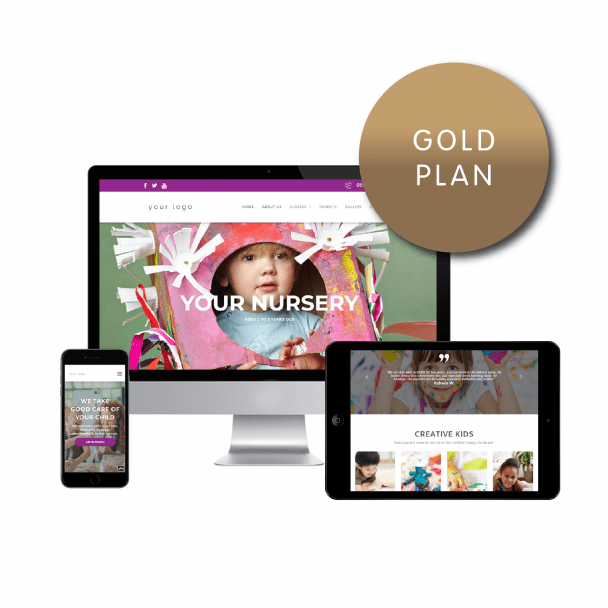 Childminder - Gold Website Plan